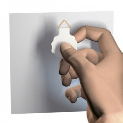 adhesive hanger 30 mm with glue-layer, max 100 gr. excl. vat 0.21  €.