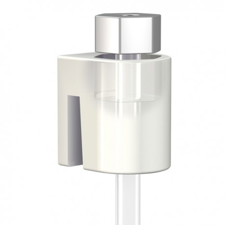 cylinder hook white.  Combined with perlon cord with slider  excl. vat 1.16 €.