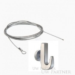 steelwire 1,5 mm with eye and hook 7 kg 150 cm. Max. 20 kg excl. vat 1.93  €.